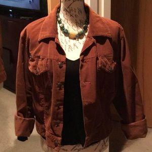 Vintage DKNY Jeans, brown corduroy jacket, Large